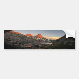 Saphire Lake Sunset - Evolution Basin - John Muir Bumper Sticker