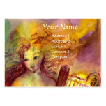 SAPHO , MUSIC AND POETRY, bright red yellow green Large Business Card