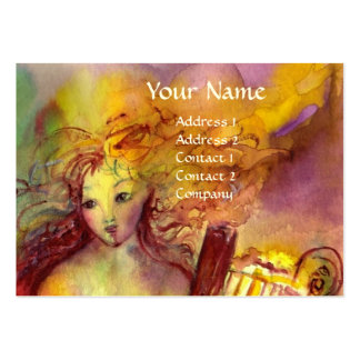 SAPHO , MUSIC AND POETRY, bright red yellow green Large Business Cards (Pack Of 100)