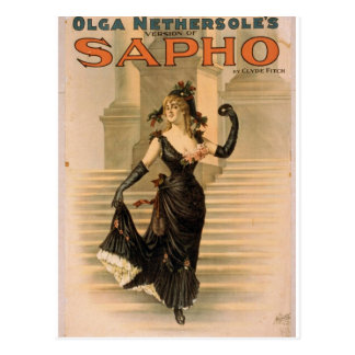 """Sapho, teatro retro de """"Olga Nethersole"""" Tarjetas Postales"""