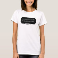 'Sapiosexuals want to do it with your mind' women's tshirt DARK