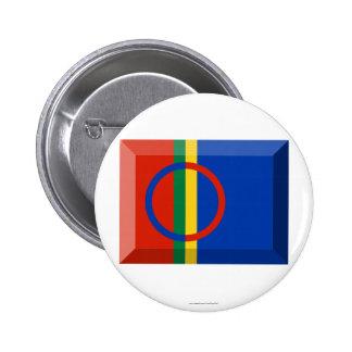 Sapmi Flag Jewel Buttons