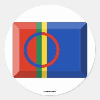Sapmi Flag Jewel Stickers