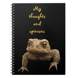 Sapo americano spiral notebook