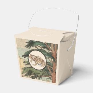 Sapo en el ejemplo del hábitat natural caja para regalo de boda