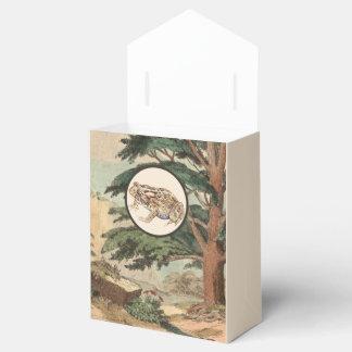 Sapo en el ejemplo del hábitat natural cajas para regalos de boda