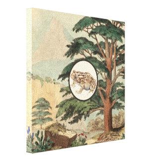 Sapo en el ejemplo del hábitat natural lona envuelta para galerias