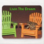 Sapo en una silla alfombrilla de ratones