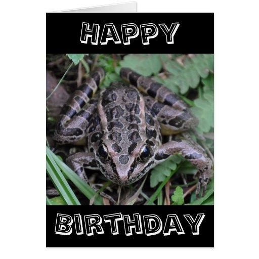 Sapo, feliz cumpleaños tarjeta de felicitación