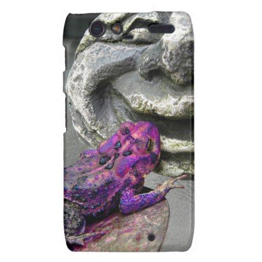 Sapo que se besa púrpura droid RAZR carcasas