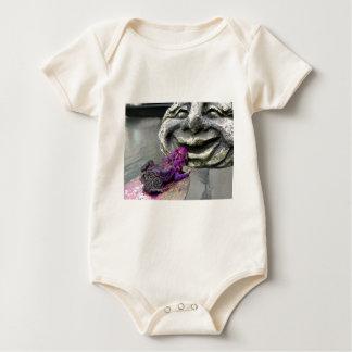 Sapo que se besa púrpura mamelucos de bebé