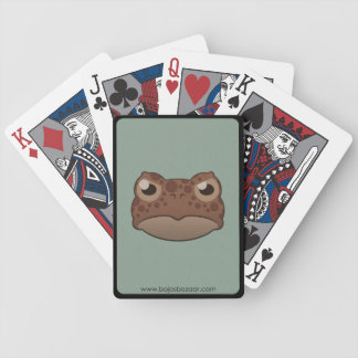Sapo rojo de papel baraja cartas de poker