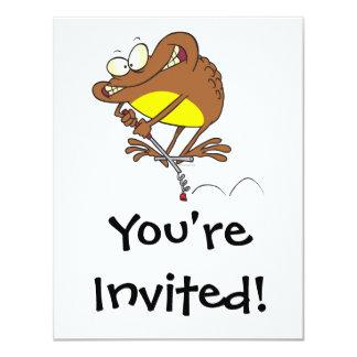 sapo tonto en dibujo animado del palillo de pogo invitacion personal
