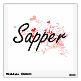 Sapper Artistic Job Design with Hearts Wall Stickers
