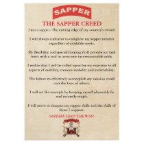 Sapper Creed Wood Poster