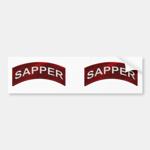 Sapper Tab set Car Bumper Sticker