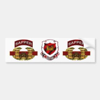 Sapper Tab w/ CEB and CREST Bumper Sticker