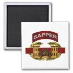 Sapper Tab w/ Combat Engineer Badge Fridge Magnet