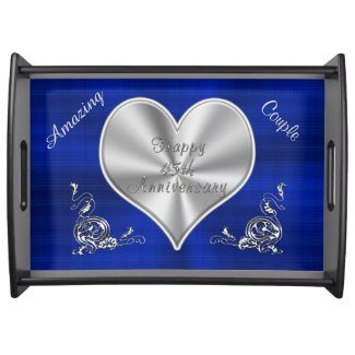 Sapphire 45th Anniversary Gifts PERSONALIZED Food Trays