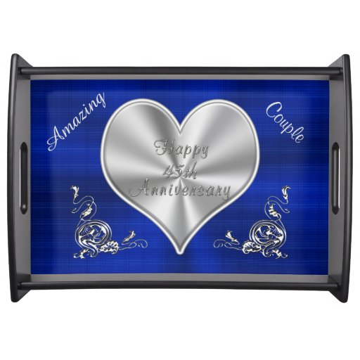 Sapphire th anniversary gifts personalized food trays