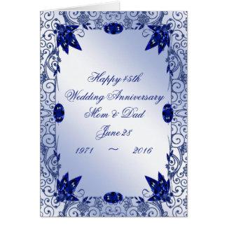 45th wedding anniversary invitations wedding