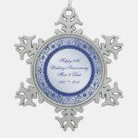 Sapphire 45th Wedding Anniversary Ornament at Zazzle