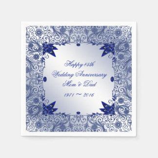 Sapphire 45th Wedding Anniversary Paper Napkins