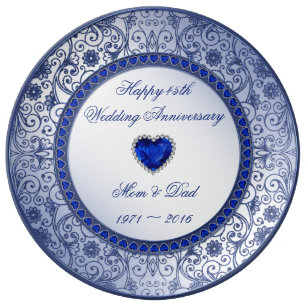 Shire 45th Wedding Anniversary Porcelain Plate