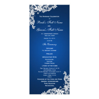 Sapphire and Lace Wedding Program