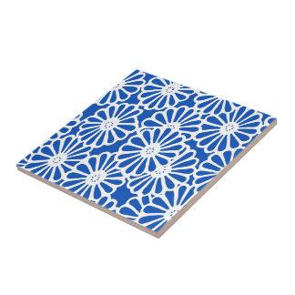 Sapphire Asian Moods Floral Ceramic Tile