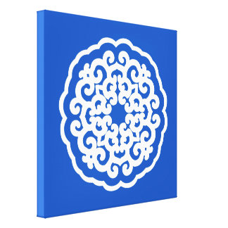 Sapphire Asian Moods Mandalla Stretched Canvas Print
