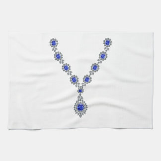 Sapphire Bachelorette Necklace Hand Towels