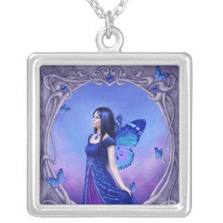 Sapphire Birthstone Fairy Necklace