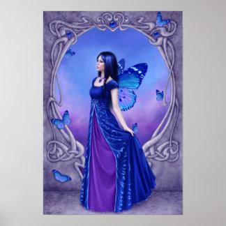 Sapphire Birthstone Fairy Poster Art Print