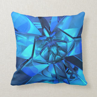 Sapphire Blue Abstract Pillow