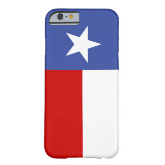 Sapphire Blue and Red Texas Flag Barely There iPhone 6 Case