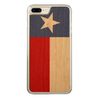 Sapphire Blue and Red Texas Flag Carved iPhone 7 Plus Case