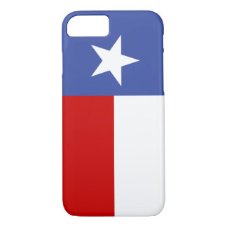 Sapphire Blue and Red Texas Flag iPhone 7 Case