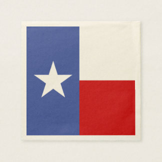 Sapphire Blue and Red Texas Flag Paper Napkin