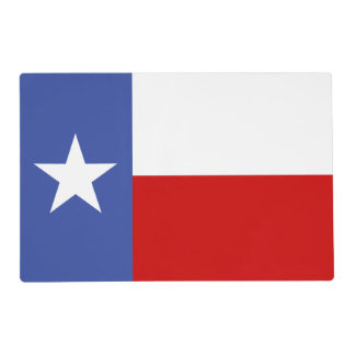 Sapphire Blue and Red Texas Flag Placemat