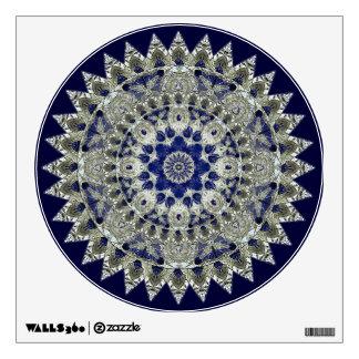 Sapphire Blue and White Diamond Star Mandala Wall Decal