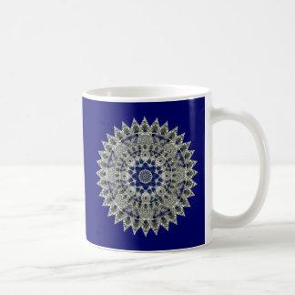 Sapphire Blue and White Star Mandala Mug