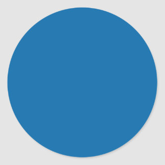 Sapphire Blue Classic Round Sticker