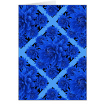 Sapphire Blue Dahlias Pattern Gifts