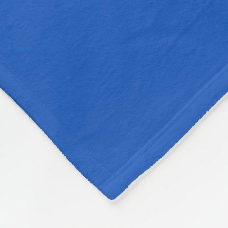 Sapphire Blue Fleece Blanket