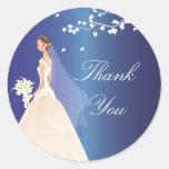 Sapphire Blue Green Bride Bridal Shower Sticker