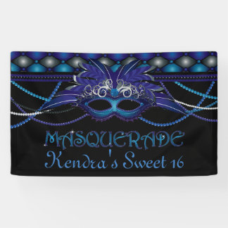 Sapphire Blue, Masquerade Party Banner