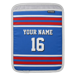 Sapphire Blue Red White Team Jersey Sports Jersey Sleeve For iPads