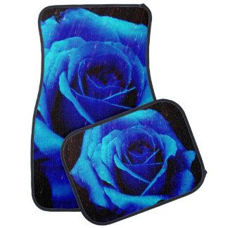 Sapphire Blue Rose Car Mats