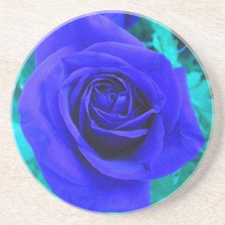 Sapphire Blue Rose Coaster